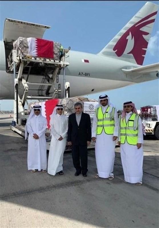 دومین محموله یاری های دولت قطر راهی تهران شد