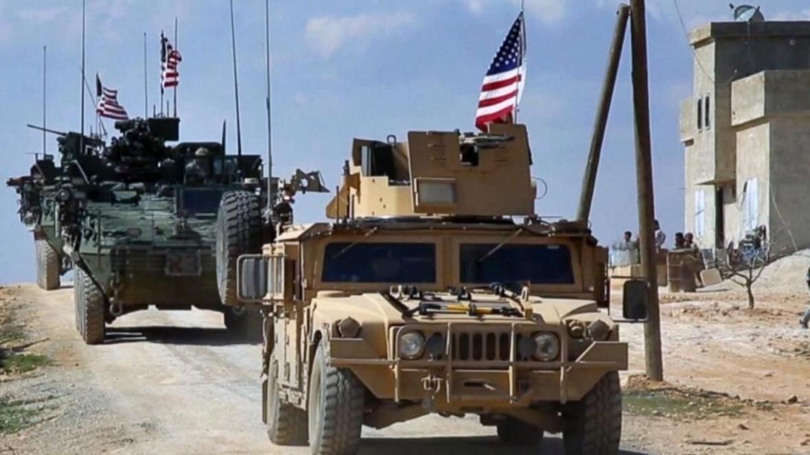 خبرنگاران انفجار بمب در راستا کاروان نظامی آمریکا در شرق سوریه
