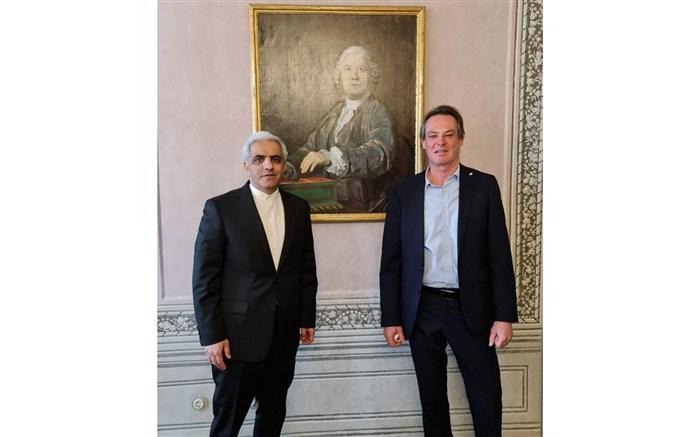 ملاقات سفیر ایران در وین با دبیرکل صلیب سرخ اتریش با محور کرونا