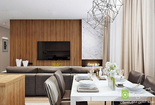 طراحی داخلی آپارتمان برای خانواده چهار نفره با دکوراسیونی شیک