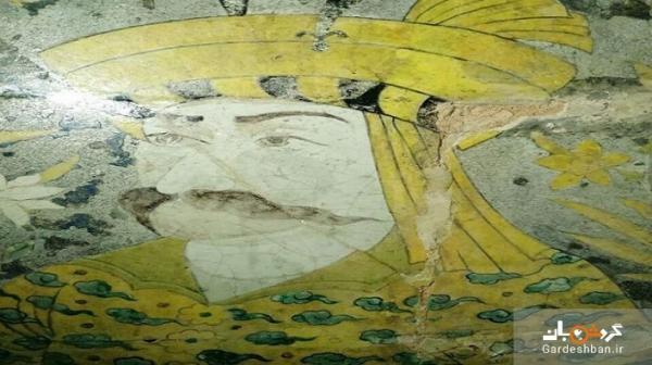 کاشیکاری یک اثر تاریخی در اصفهان قربانی بی توجهی