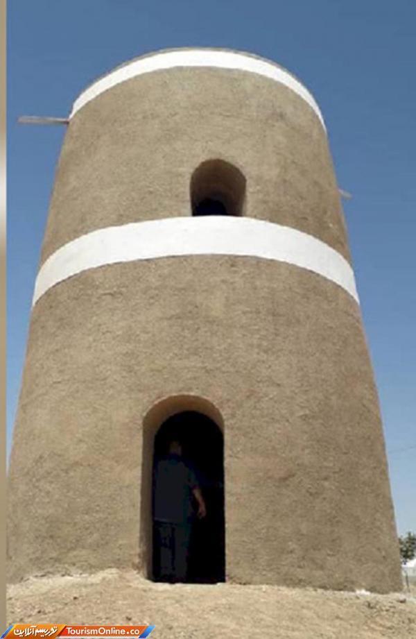 خاتمه مرحله دوم عملیات بازسازی برج کبوتر روستای عزیزآباد شهرستان تیران و کرون